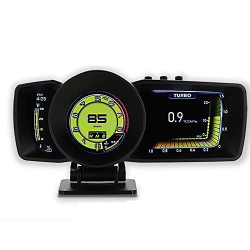 Playpen Coche 3.0 HUUD Pantalla de Tablero de Instrumentos multifunción OBD2 + GPS Sistema Inteligente Sistema de Alarma de Calibre automático de velocímetro Aumento de Turbo