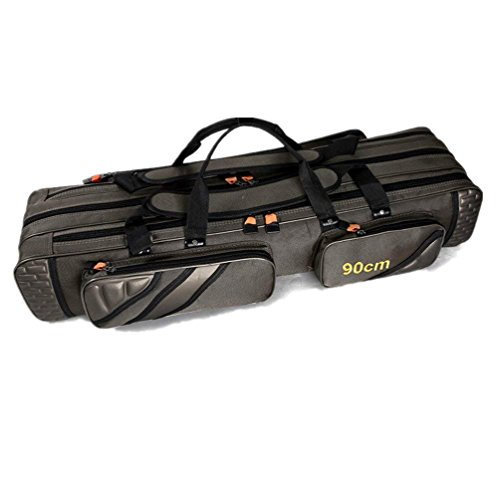TentHome Angeltaschen Rutentaschen Rutenfutteral Anglertasche Angelkoffer Angelrute Tasche mit 3 Fächern - Verschiedene Längen (125)