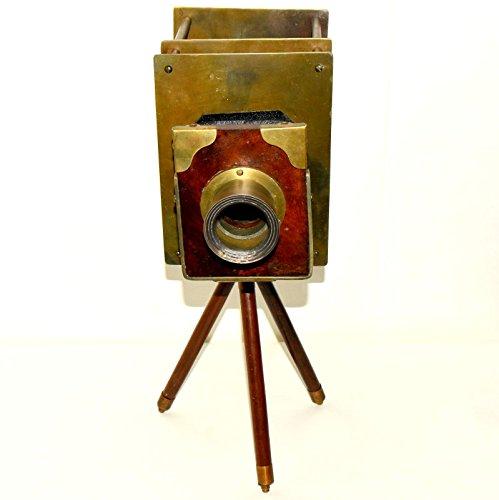 Nautical World Dekorativer Retro Holz Slide Kamera mit schönen Stativ Decor Vintage Kamera. vgd54