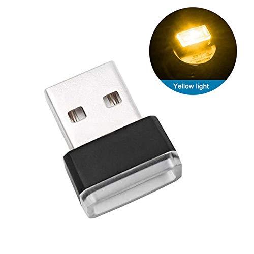 QYSZYG Autozubehör Innenminiauto-Atmosphere-Licht USB-Wireless-LED Neon Ambient-Lampen-Auto-Dekoration Auto Produkte, Versenden von: Russische Föderation, Farbe Name: Eisblau (Color : Yellow)