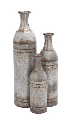 Deco 79 Benzara 20269 The Cool Metal Vase, Set of 3, 43 by 33 by 25-Inch