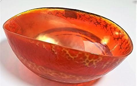Vinciprova Le Gemme di Venezia Murano Collection Centro Tabla Yalos cartoccetto Mignon diámetro CM.17x h 8cm Cristal de Murano Made in Italy