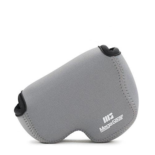 MegaGear Nikon Coolpix B500 Ultraleichte Kameratasche aus Neopren mit Karabiner Haken grau