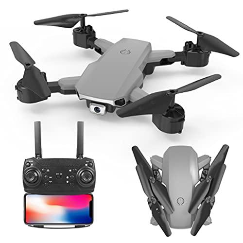 Lobhqph Mini Drone con cámara Dual 4K, WiFi FPV Drones Plegable RC Quadcopter Smart Follow One-Key Return Home Optical Flow Posicionamiento Altura Keep Hold