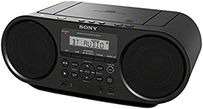 Sony Portable Bluetooth Digital Tuner AM/FM Radio Cd Player Mega Bass Reflex Stereo Sound System Plus FSM 6ft Aux Cable to Connect Any Ipod, Iphone or Mp3 Digital Audio Player