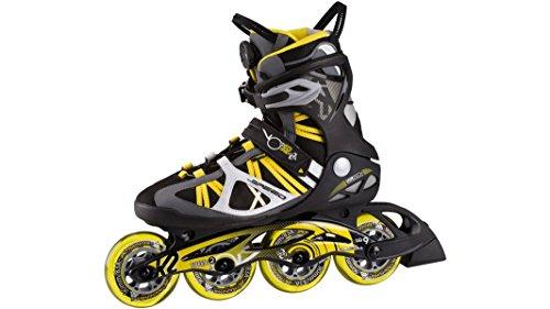 K2 Herren Inliner VO2 Max 90 Speed Boa M schwarz / gelb, Größe:42.5