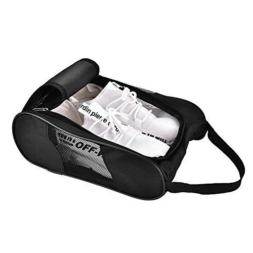 RiToEasysports 2Colors Golf Schuh-Tragetasche Sportschuh-Tragetasche Aufbewahrungstasche für Sport Golf Tennis(Schwarz)
