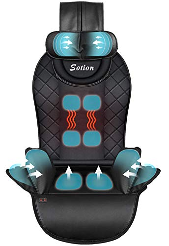 Sotion Back Massager with Air Compress & Heat,Back Massager for Car,Home,Office Chair Use,Electric Full Body Massager Helps Relieve Stress and Fatigue for Neck,Back,Waist and Hips