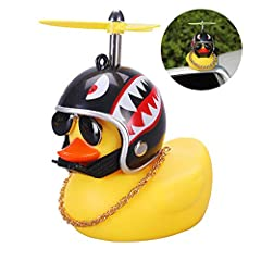 Multipurpose - The rubber duck can be used as a car decoration, but also as a relaxing and pressure-relief toy for adults, also suitable for children over the age of 3. Squeak and Fun - These rubber ducks will squeak when you squeeze them, which can ...