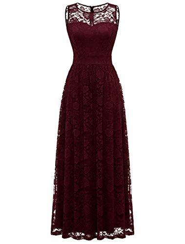 WedTrend vrouwen vintage zien door kant terug lange avond bruiloft partij jurk