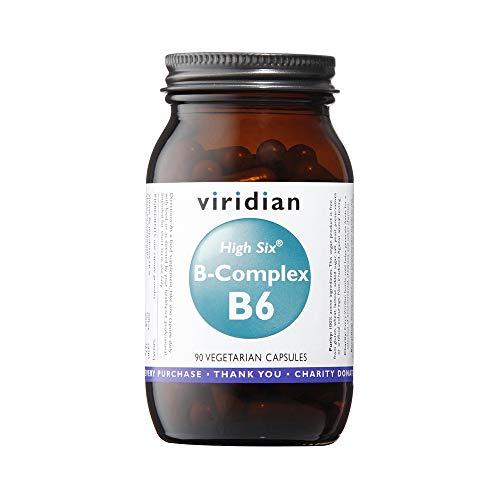 Viridian HIGH SIX Vitamin B6 with B-Complex: 90 Veg Caps