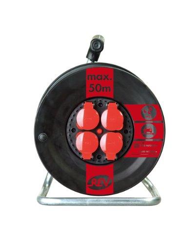 REV Ritter 0088820 Kunststofftrommel Kabeltrommel 3-fach, IP44 ohne Kabel
