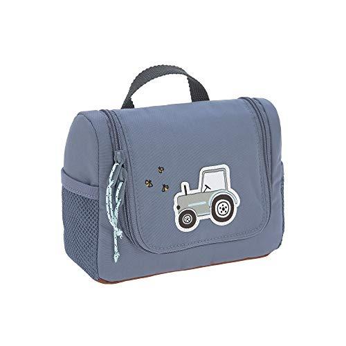 LÄSSIG Kinder Kulturtasche Waschbeutel Waschtasche Kulturbeutel zum Hängen, 20 cm/Mini Washbag Adventure Tractor, Blau