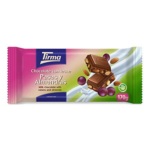 Chocolate con Leche, Pasas y Almendras Enteras