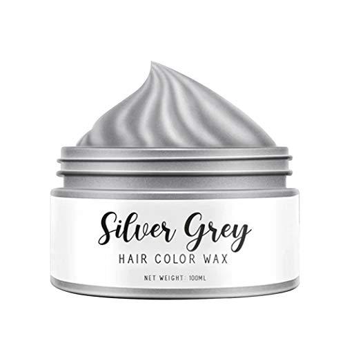 shadiao Silver Grey Hair Color Wax temporary Colors Hair Dye Beauty Care Hair Styling Wax 1/3.4 oz