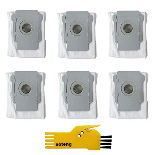 aotengou 6 Pack Clean base automatique Sacs pour iRobot Roomba i7 + i7 /Plus + s9/Plus E5 E6 E7 Aspirateur
