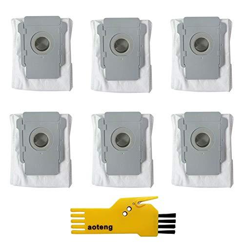 6 Bolsas de eliminación de Suciedad automáticas de Base Limpia para iRobot Roomba i7 i7 + /Plus s9 +/Plus E5 E6 E7 Kit de Accesorios para aspiradora