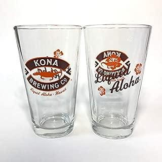 Kona Brewing Company - Liquid Aloha - 16 Ounce Pint Glass - Set of 2