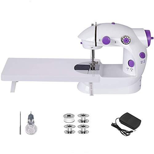Mini máquina de coser con mesa de extensión, doble rosca ajustable, dos velocidades, portátil, kit de costura multifunción, herramienta de costura para el hogar, principiantes