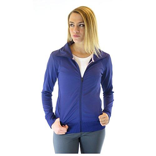Alex + Abby Women's Essential Full Zip Jacket Medium Blast Purple