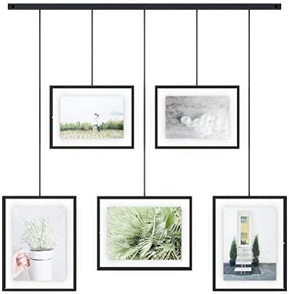 Umbra Exhibit Picture Frame Gallery Set Adjustable Collage Display for 5 Photos Prints Artwork product image