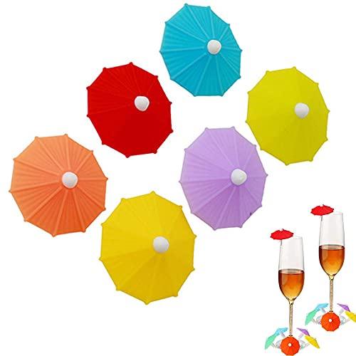 Marcatori di Bevande, 12 Pezzi Marcatori per Bicchieri da Vino, Segnabicchieri in Silicone per Feste, Segni Decorativi in Vetro di Vino, Può Essere Utilizzato per la Decorazione Della Casa