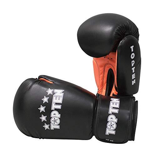 TOP Ten Boxhandschuhe, R2M, schwarz-orange, 10 Oz