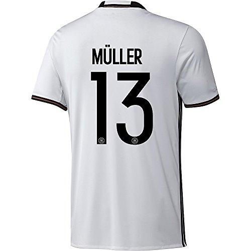 adidas DFB DEUTSCHLAND Trikot Home Kinder EURO 2016 - MÜLLER 13, Größe:152