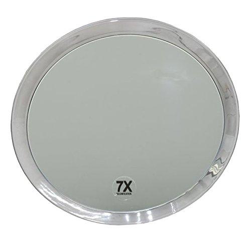 Runder 7-fach Kosmetik-Spiegel Ø 23cm, Kosmetex mit verschiedenen Vergrößerung und Saugnäpfen, 7-fach