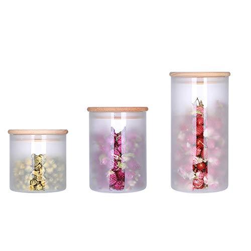 SXSHYUST Luftdicht Glas Frischhaltedosen Set aus 3er Frischhalteboxen Glasbehälter Vorratsdosen mit Deckel, Luftdicht, BPA frei, Geeignet für Mikrowelle, Gefrierschrank Getreide, Transparent