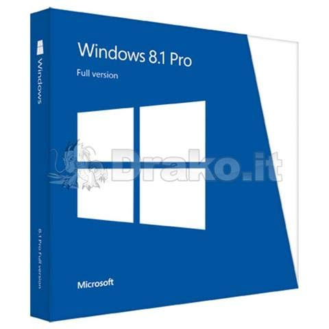 Microsoft Windows 8.1 Pro 64 bit, Versione completa, Edizione DVD OEM (Original Equipment Manufacturer)