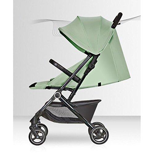 Carro de bebé puede sentarse paraguas horizontal Plegable portátil recién nacido cuatro...