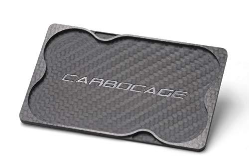 CARBOCAGE CARBOCAGE Coin Card Carbon - Für alle Slim Wallets mit Querauszug