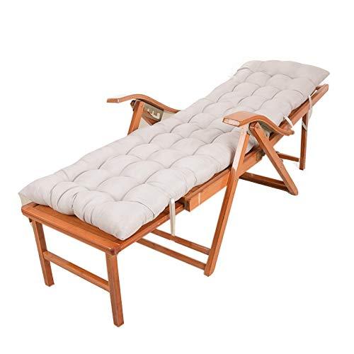 Garden lounger wood with back cushion Folding sunlounger wooden deck chair, deckchair, solid garden furniture-5-speed Adjustable