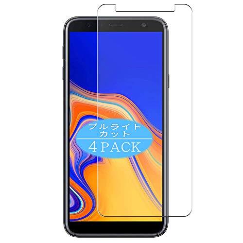VacFun 4 Piezas Filtro Luz Azul Protector de Pantalla Compatible con Samsung Galaxy J4 Plus / J6 Plus, Screen Protector Película Protectora (Not Cristal Templado) Anti Blue Light Filter New Version