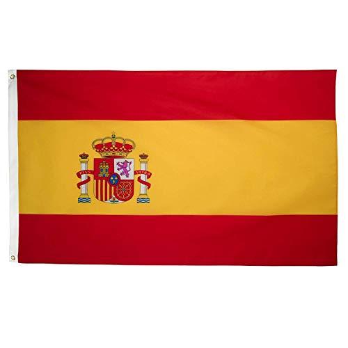 Ericraft Bandera de España Grande 90x150cms Bandera de España balcón para Exterior Reforzada y con 2 Ojales metálicos, Bandera España Grande Spanish Flag