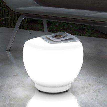 Grandecoracion.com Mesa Auxiliar con luz LED para Exterior - Interior