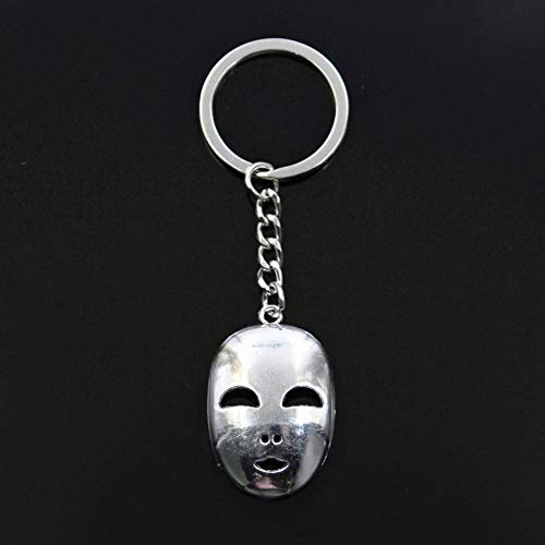 YCEOT Fashion Keychain 40X26mm Party Masker carnaval hanger DIY mannen Brons Zilver Kleur Auto Ketting Ringhouder Gift