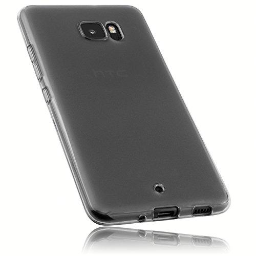 mumbi Hülle kompatibel mit HTC U Ultra Handy Hülle Handyhülle, transparent schwarz