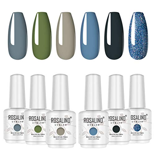 Gel Nail Polish Set 6 Bottles UV LED Lamp Required $30.00 (80% OFF)
