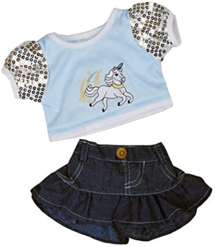 deportes calientes Unicorn  Glitter    Outfit Teddy Bear Clothes Outfit Fits Most 14  - 18  Build-a-bear, Vermont Teddy Bears, and Make Your Own Stuffed Animals by Teddy Mountain  ventas en linea