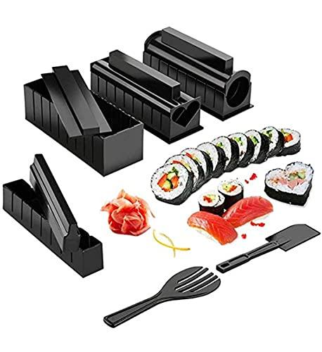 EEYZD Kit de Equipo de fabricación de Sushi, Molde de Rollo de Torta de arroz glutinoso japonés, multifunción de Bricolaje, Adecuado para la Herramienta para Principiantes Cuchillo de Sashimi