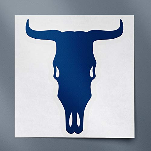 USC DECALS Cow Skull Silhouette (Navy Blue) (Set of 2) Premium Waterproof Vinyl Decal Stickers for Laptop Phone Accessory Helmet Car Window Bumper Mug Tuber Cup Door Wall Decoration
