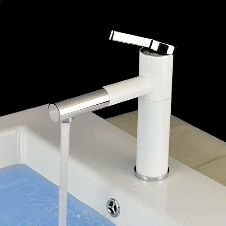 Retro Deluxe Fauceting Waschbecken Armaturen gegrillten weien Porzellankrper Auswurfkrümmerdrehung Messing verchromt poliert Tippen Sie auf Mischpult Wasserhahn