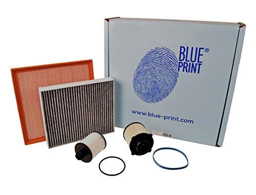 Blue Print ADW192110 Onderhoudspakket, inspectiepakket, filterset (1 oliefilter, 1 x luchtfilter, 1 x interieurfilter, 1 x brandstoffilter)