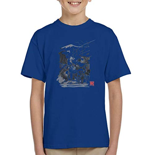 Cloud City 7 Mount Fuji Paraplu T-shirt voor kinderen