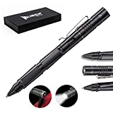 Tactical Pen for Self-Defense Rechargeable Waterproof CREE LED Flashlight Window Breaker Ballpoint Pen Multitool for Everyday Carry Survival Gear