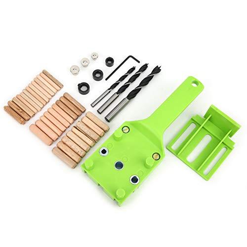Plantilla de autocentrado de pasador, 41 piezas Perforador de unión de madera...