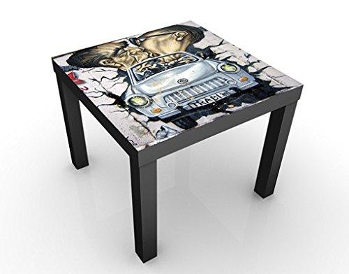 Apalis Design Tisch 1989 55x55x45cm Beistelltisch Couchtisch Motiv-Tisch Wohnzimmer, Tischfarbe:Weiss;Größe:55 x 55 x 45cm