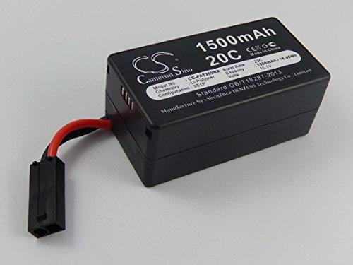 vhbw Batteria Li-Polymer 1500mAh (11.1V) per Droni, Quadricotteri, Multicotteri Parrot AR Drone 1.0, AR Drone 2.0, AR Drone 2.0HD Come PF070056.